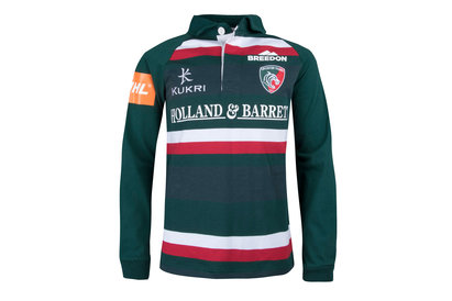 Kukri Leicester Tigers 2017/18 Kids Home Classic L/S Rugby Shirt