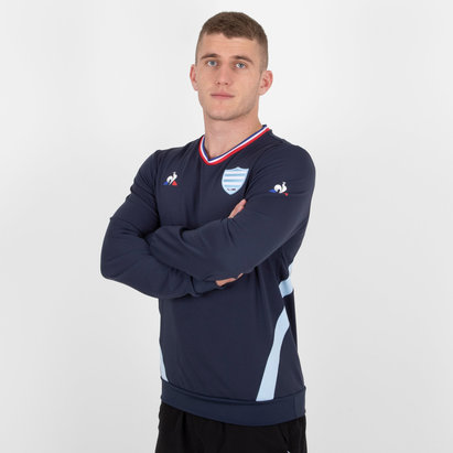 Le Coq Sportif Racing 92 2018/19 Crew Rugby Training Sweat