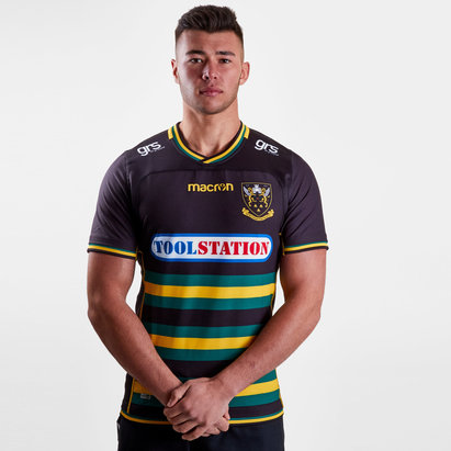 Macron Northampton Saints 2018/19 Home S/S Authentic Test Rugby Shirt