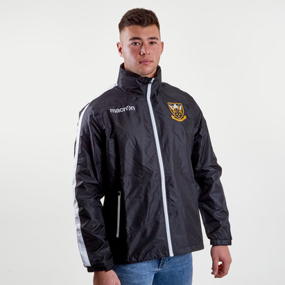 Macron Northampton Saints 2018/19 Full Zip Shower Hooded Rugby Jacket