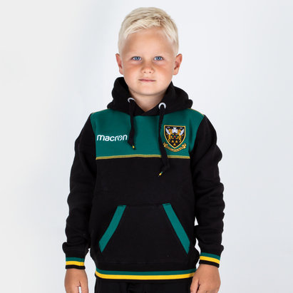 Macron Northampton Saints 2018/19 Kids Travel Cotton Hooded Rugby Sweat