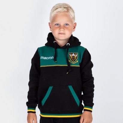 Macron Northampton Saints 2018/19 Kids Travel Cotton Hooded Rugby Sweat