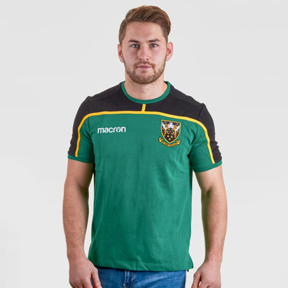 Macron Northampton Saints 2018/19 Players Travel Rugby T-Shirt