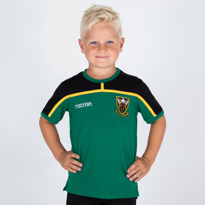 Macron Northampton Saints 2018/19 Kids Travel Rugby T-Shirt