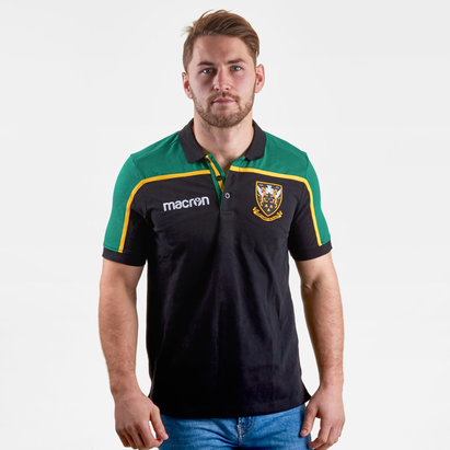 Macron Northampton Saints 2018/19 Players Travel Rugby Polo Shirt