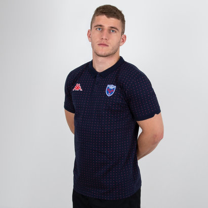 Kappa FC Grenoble 2018/19 Bianca Rugby Polo Shirt