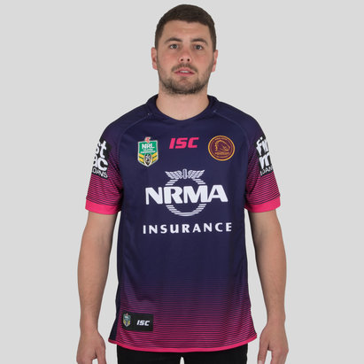 ISC Brisbane Broncos NRL 2018 Women in League S/S Rugby Shirt