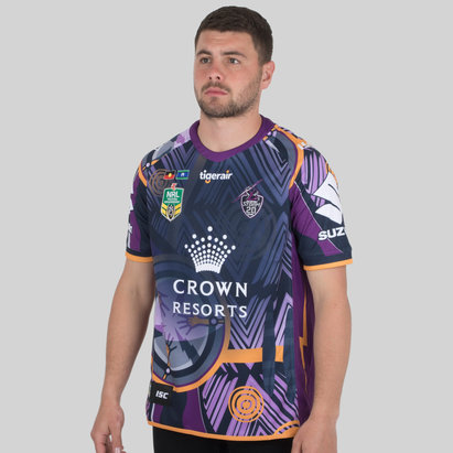 ISC Melbourne Storm NRL 2018 Indigenous S/S Rugby Shirt