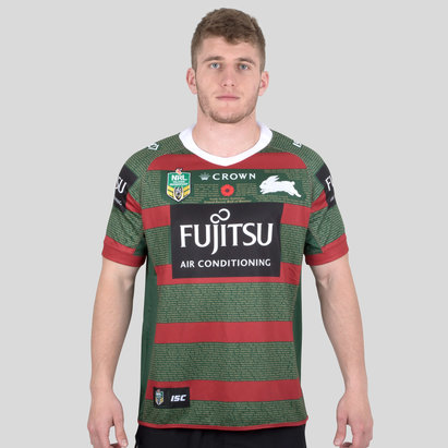 ISC South Sydney Rabbitohs NRL 2018 Anzac S/S Rugby Shirt