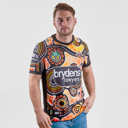 ISC Wests Tigers NRL 2018 Indigenous S/S Rugby Shirt