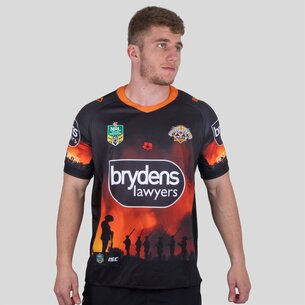 ISC Wests Tigers NRL 2018 Anzac S/S Rugby Shirt