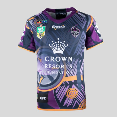 ISC Melbourne Storm NRL 2018 Kids Indigenous S/S Rugby Shirt