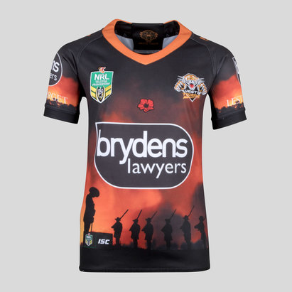 ISC Wests Tigers NRL 2018 Kids Anzac S/S Rugby Shirt