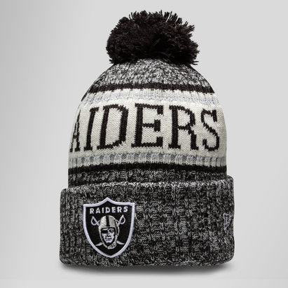New Era NFL Oakland Raiders Sideline Bobble Knit Hat