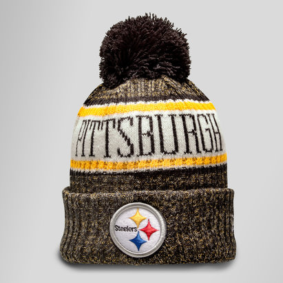 New Era NFL Pittsburgh Steelers Sideline Bobble Knit Hat