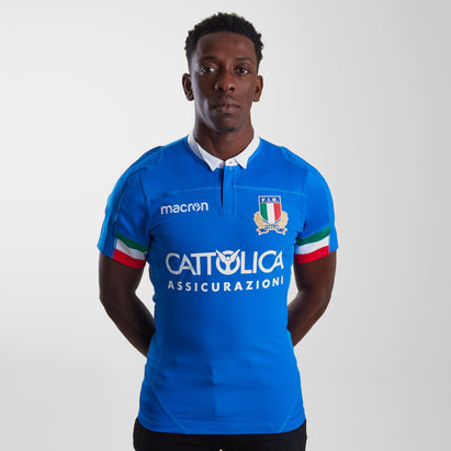 Macron Italy 2018/19 Home Test S/S Rugby Shirt