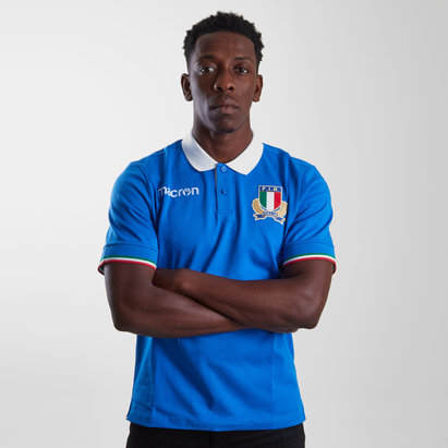 Macron Italy 2018/19 Players Cotton Polo Shirt