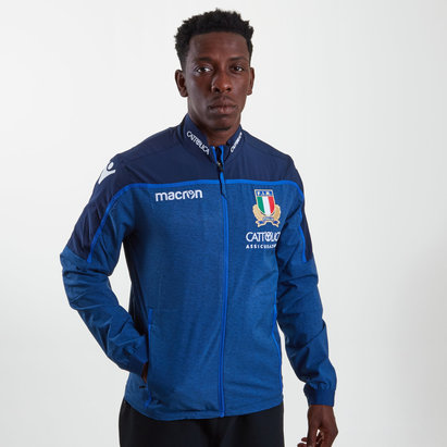 Macron Italy 2018/19 Players Anthem Full Zip Rugby Jacket