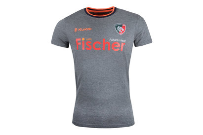 Kukri Leicester Tigers 2017/18 Players Logo Rugby T-Shirt