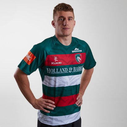 Kukri Leicester Tigers 2018/19 Home S/S Replica Rugby Shirt
