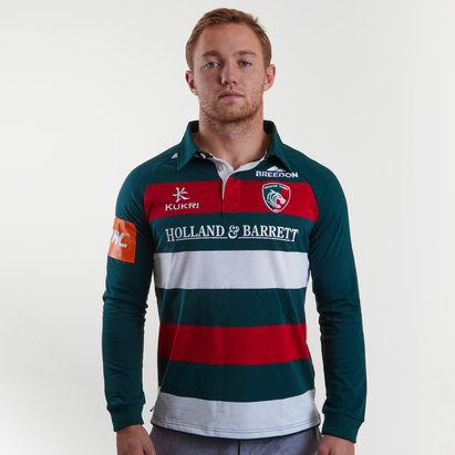 Kukri Leicester Tigers 2018/19 Home L/S Classic Rugby Shirt