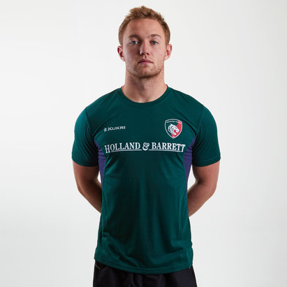 Kukri Leicester Tigers 2018/19 Players Match Day Rugby T-Shirt