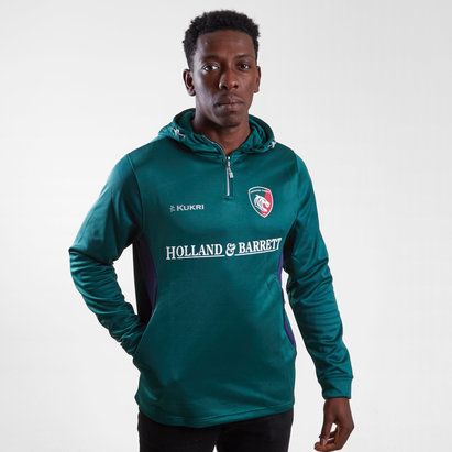Kukri Leicester Tigers 2018/19 Players Match Day Hooded Rugby Sweat