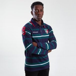 Kukri Leicester Tigers 2018/19 Yarn Dye Rugby Shirt