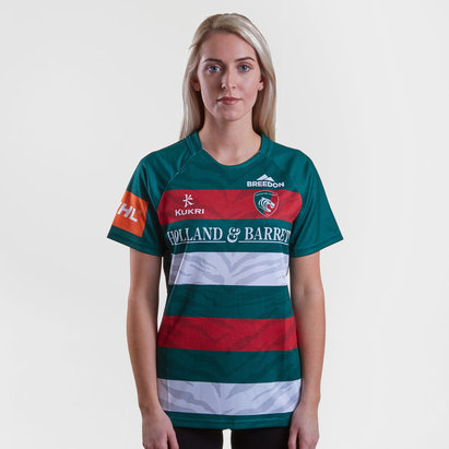 Kukri Leicester Tigers 2018/19 Ladies Home S/S Replica Rugby Shirt