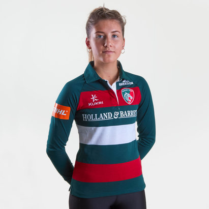 Kukri Leicester Tigers 2018/19 Ladies Home L/S Classic Rugby Shirt