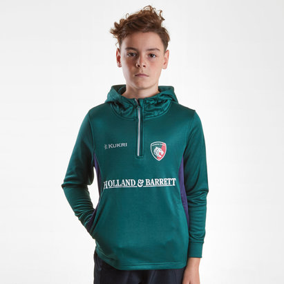 Kukri Leicester Tigers 2018/19 Kids Match Day Hooded Rugby Sweat