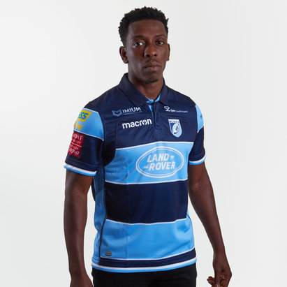 Macron Cardiff Blues 2018/19 Home S/S Replica Rugby Shirt
