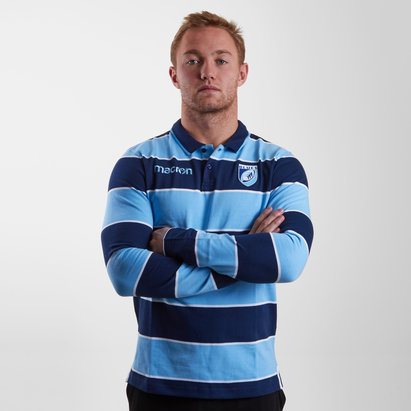 Macron Cardiff Blues 2018/19 Heavy Cotton Retro Rugby Shirt