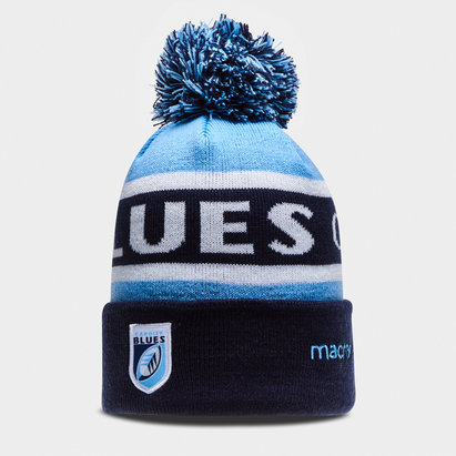Macron Cardiff Blues 2018/19 Bobble Rugby Beanie