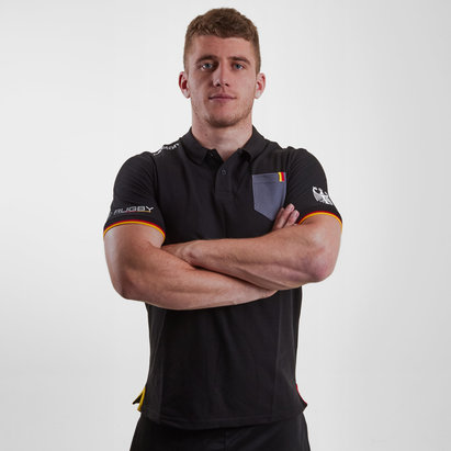 Macron Germany 2018/19 Players Cotton Rugby Polo Shirt