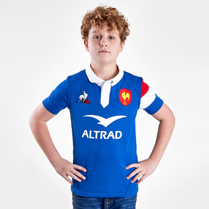 Le Coq Sportif France 2018/19 Kids Home S/S Rugby Shirt
