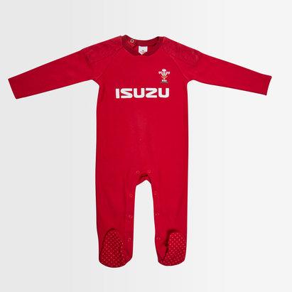 Wales Rugby Wales WRU 2018/19 Infants Rugby Sleepsuit