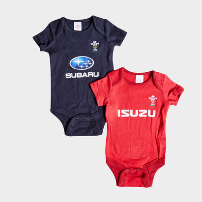 Wales Rugby Wales WRU 2018/19 Infant Bodysuits 2 Pack