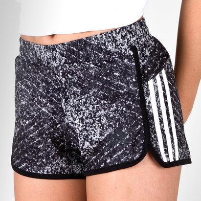 adidas D2M Ladies 3 Stripes Performance Shorts