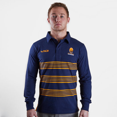 VX3 Worcester Warriors 2018/19 L/S Cotton Rugby Shirt