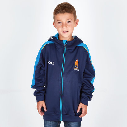 VX3 Worcester Warriors 2018/19 Kids Pro Full Zip Hoodie