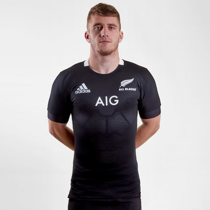 adidas New Zealand All Blacks 2018 19 Home S S Test Rugby Shirt f5ac8e459