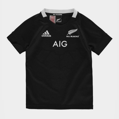 adidas New Zealand All Blacks Rugby Shirt 2018 2019 Junior