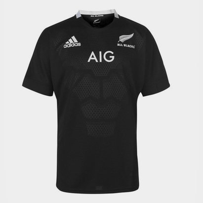 adidas New Zealand All Blacks 2018/19 Home S/S Rugby Shirt