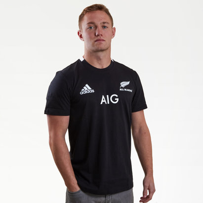 adidas New Zealand All Blacks 2018/19 Home S/S Rugby T-Shirt