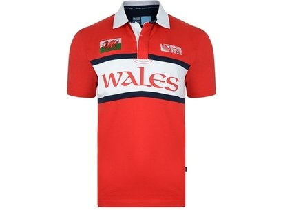 RWC15 Country Collection Wales Flag Polo Shirt