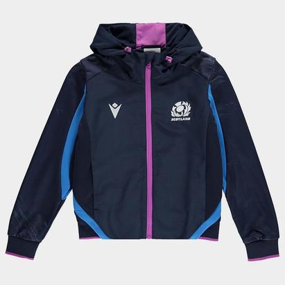 Macron Scotland Rugby Full Zip Hoodie Junior