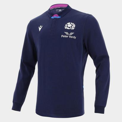 Macron Scotland Home Long Sleeve Classic Rugby Shirt 2021 2022