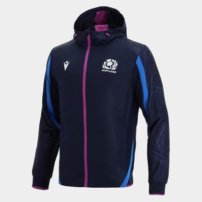 Macron Scotland Rugby Full Zip Hoodie Mens