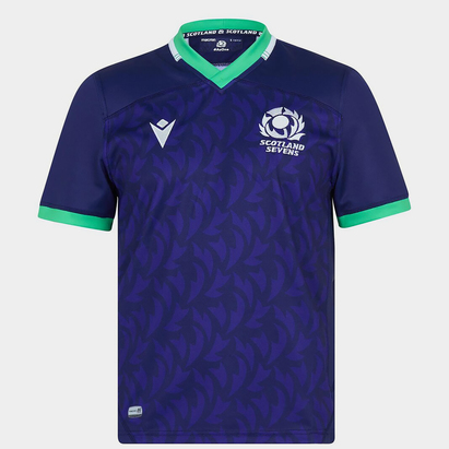 Macron Scotland Rugby 7s Home Rugby Shirt 2021 2022